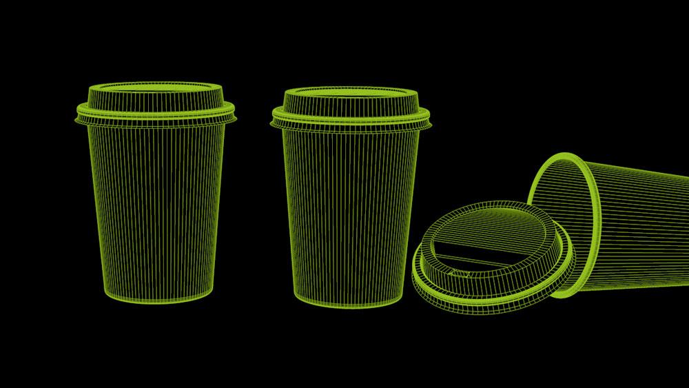 kaffebecher konstruktion Wireframe